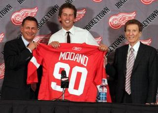 Ken Holland, Mike Modano et Mike Ilitch